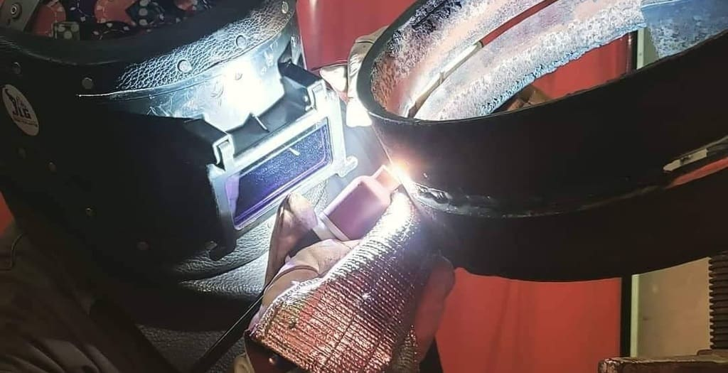 welding metal together